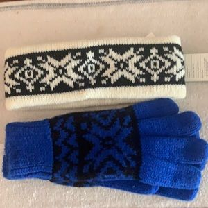 Gloves ski bands aris knit from mervyns NWT